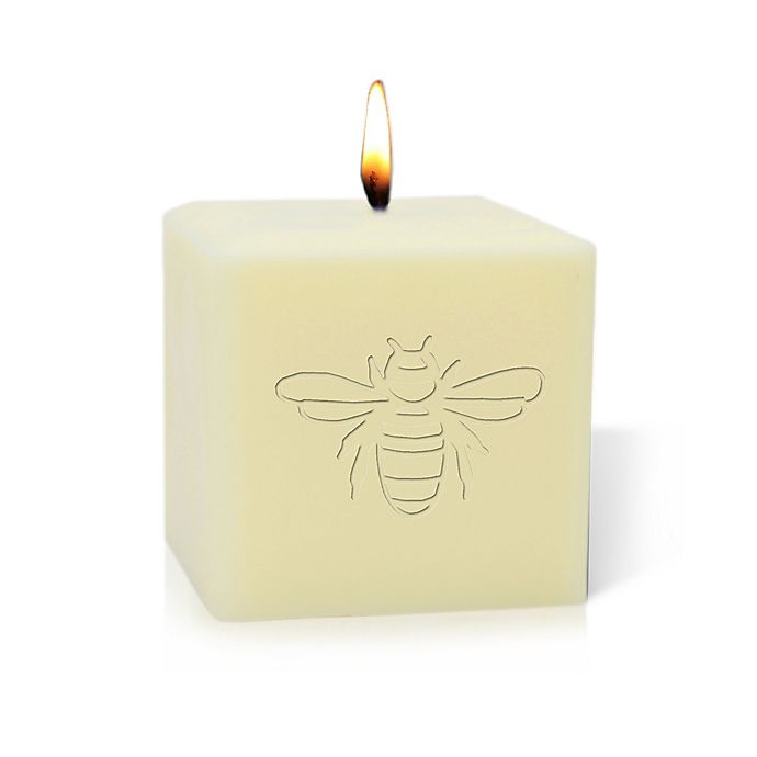 Carved Solutions Bee Unscented Soy Pillar Candle   Bed ...