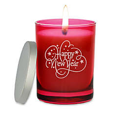 "Carved Solutions Gem Collection ""Happy New Year"" Jar Candle"