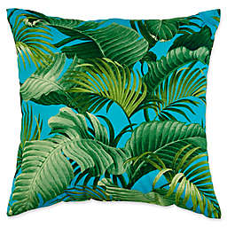 Indoor/Outdoor Throw Pillow in Back Bay Ocean