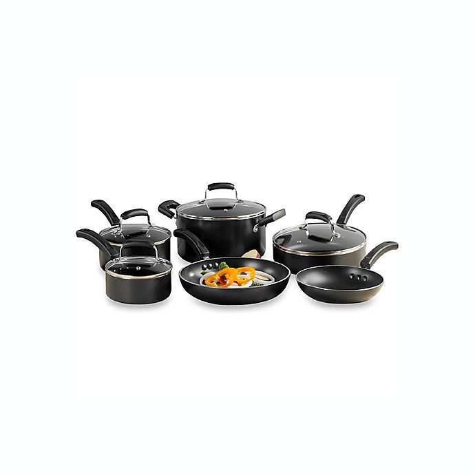 Alternate image 1 for Invitations® Everyday Nonstick 10-Piece Cookware Set