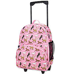 Wildkin Horses in Pink Rolling Luggage in Pink