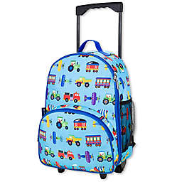 Olive Kids Trains, Planes & Trucks Rolling Luggage in Blue