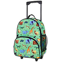 Olive Kids Wild Animals Rolling Luggage in Green