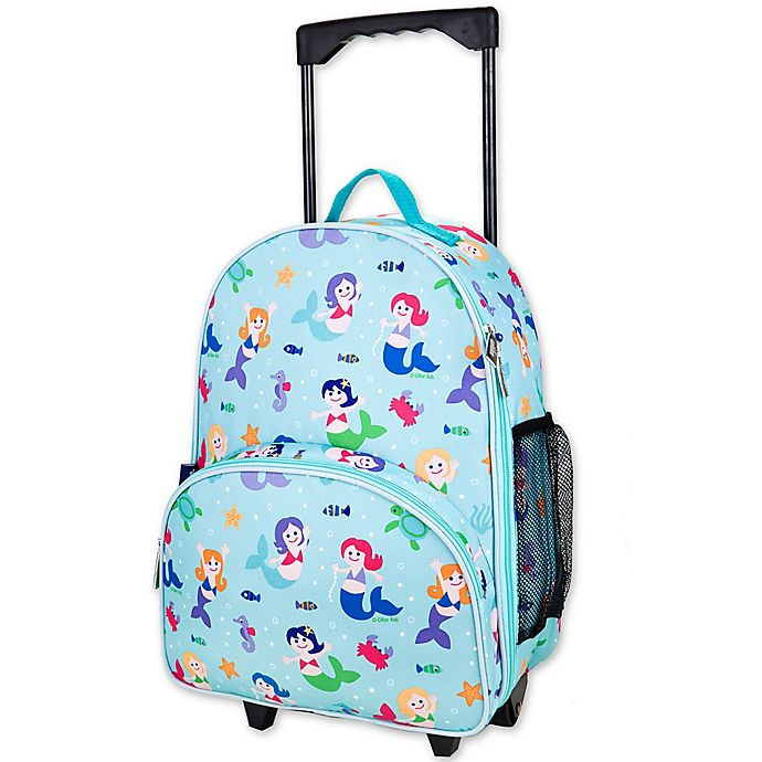 Alternate image 1 for Olive Kids Mermaids Rolling Luggage in Blue