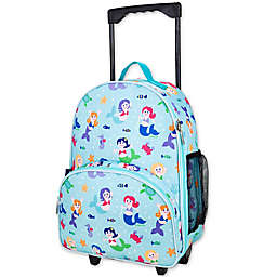 Olive Kids Mermaids Rolling Luggage in Blue