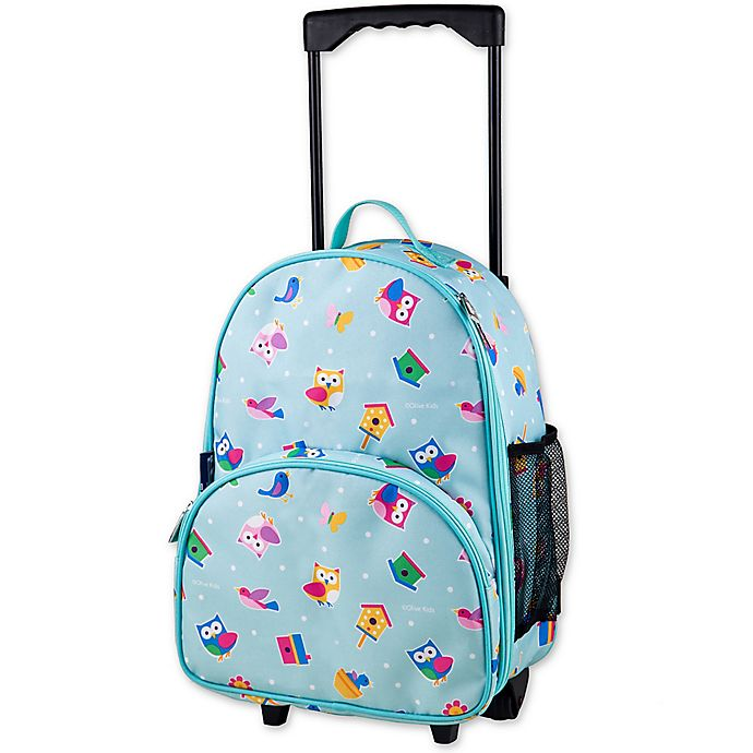 Alternate image 1 for Olive Kids Birdie Rolling Luggage in Pink