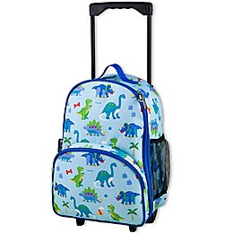 Olive Kids Dinosaur Land Rolling Luggage in Blue