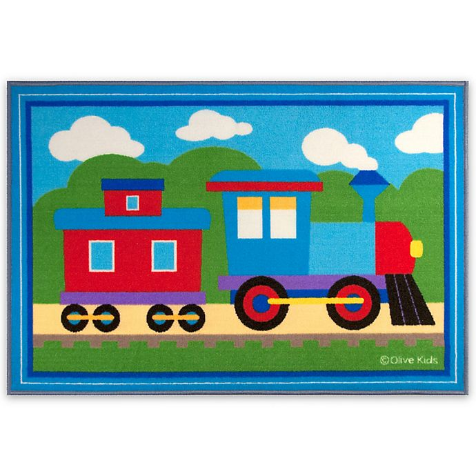 Alternate image 1 for Olive Kids Trains, Planes and Trucks 2-Foot 7-Inch x 3-Foot 9-Inch Accent Rug