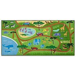 Olive Kids Safari 3-Foot 3-Inch x 6-Foot 8-Inch Play Rug