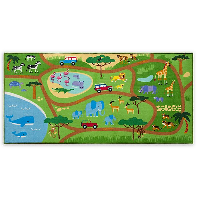 Alternate image 1 for Olive Kids Safari 3-Foot 3-Inch x 6-Foot 8-Inch Play Rug