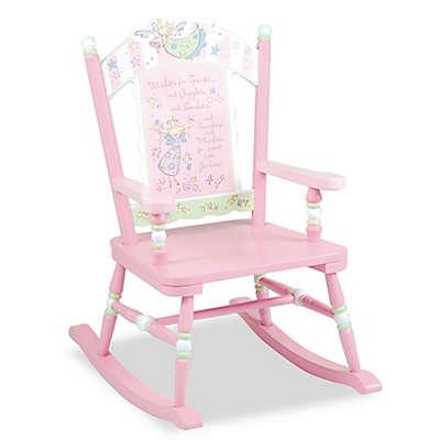 Wildkin Kid's Fairy Wishes Rocking Chair in Pink