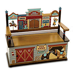 Wildkin Kid's Wild West Bench Seat with Storage