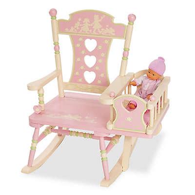 Wildkin Rock-A-My-Baby Rocking Chair in Pink