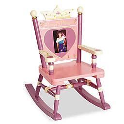 Wildkin Kid's Princess Mini Rocking Chair in Pink