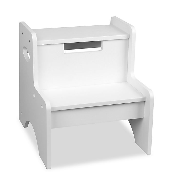Alternate image 1 for Wildkin Kid's Two Step Stool in White