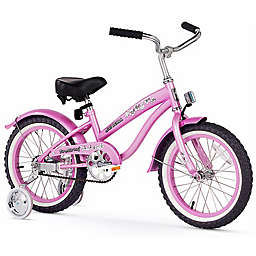 "Firmstrong  Girl's Bella 16"" Single Speed Bicycle w/Training Wheels"