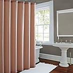 Metallic Luster Shower Curtain in Rose Gold
