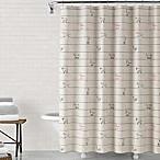 ED Ellen DeGeneres Animal Lines 72-Inch x 72-Inch Shower Curtain