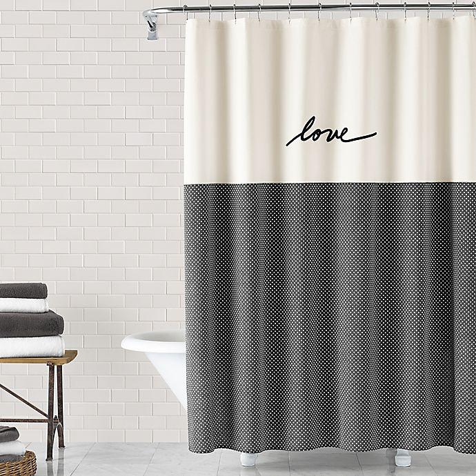 Alternate image 1 for ED Ellen DeGeneres Love 72-Inch x 72-Inch Shower Curtain