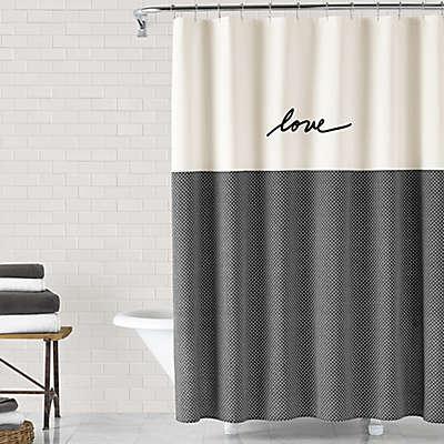 ED Ellen DeGeneres Love Shower Curtain Collection