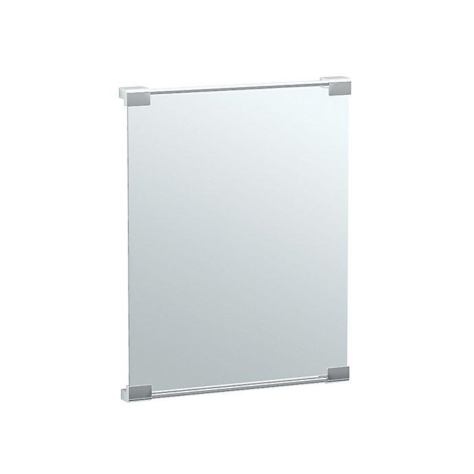 Alternate image 1 for Gatco® Latitude II 19.6-Inch x 25.4-Inch Rectangular Fixed Mount Mirror in Chrome