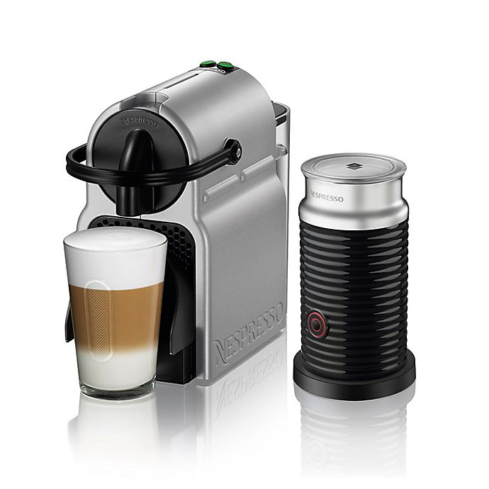 Alternate image 1 for Nespresso® by De'longhi Inissia Espresso Maker Bundle with Aeroccino Frother in Silver