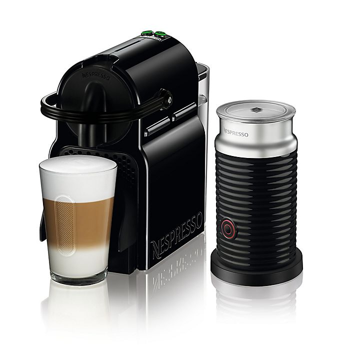Alternate image 1 for Nespresso® by De'longhi Inissia Espresso Maker Bundle with Aeroccino Frother in Black