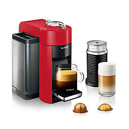 Nespresso Vertuo by De'Longhi Coffee and Espresso Maker with Aeroccino Milk Frother in Shiny Red