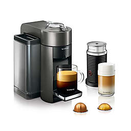 Nespresso Vertuo by De'Longhi Coffee and Espresso Maker with Aeroccino Milk Frother, Graphite Metal