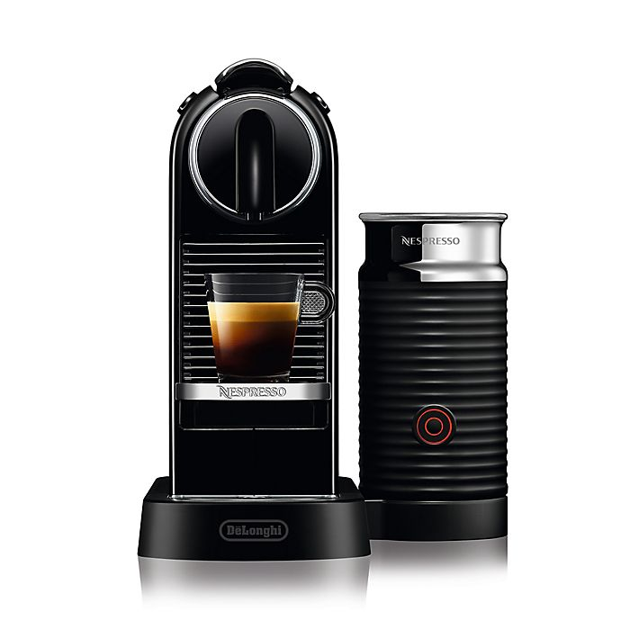 Alternate image 1 for Nespresso® by Delonghi CitiZ Espresso Maker Bundle with Aeroccino Frother in Black
