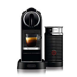 Nespresso® by Delonghi CitiZ Espresso Maker Bundle with Aeroccino Frother in Black