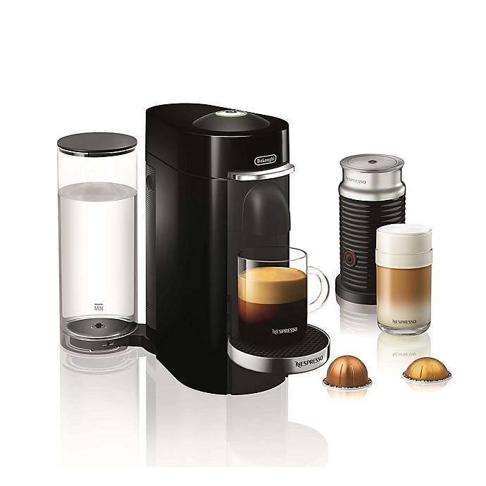 Alternate image 1 for Nespresso® by De'Longhi VertuoPlus Deluxe Coffee and Espresso Maker with Aeroccino in Black