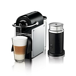 Nespresso® by De'Longhi Pixie Espresso Maker Bundle with Aeroccino Frother in Aluminum