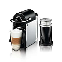 Nespresso® by De'Longhi Pixie Espresso Maker Bundle with Aeroccino Frother in Aluminum