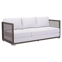 Zuo® Coronado All-Weather Sofa in Cocoa/Light Grey