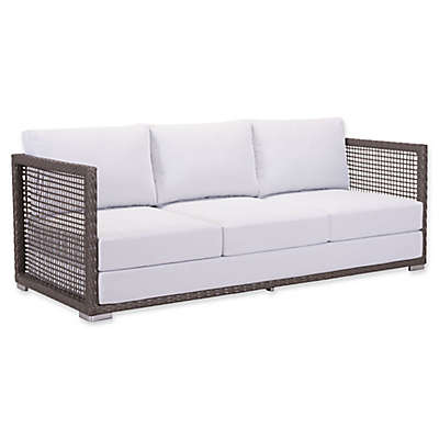 Zuo® Coronado All-Weather Sofa in Cocoa/Light Grey