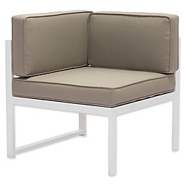 Zuo® Golden Beach Corner Chair in White/Taupe