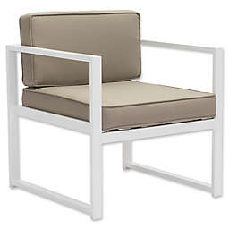 Zuo® Golden Beach Arm Chairs in White/Taupe (Set of 2)