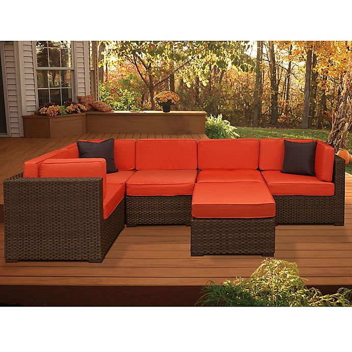 Alternate image 1 for Atlantic Bellagio 6-Piece Patio Sectional Set