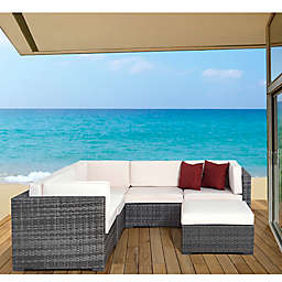 Atlantic Bellagio 6-Piece Outdoor Wicker Sectional