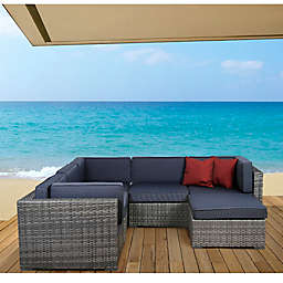 Atlantic Bellagio 6-Piece Outdoor Wicker Sectional
