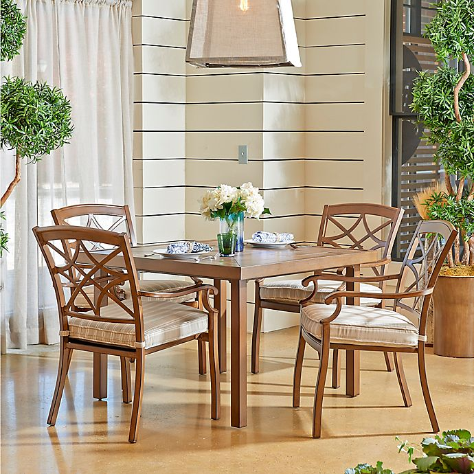 Alternate image 1 for Trisha Yearwood Home Collection Outdoor 5-Piece Dining Set in Espadrille