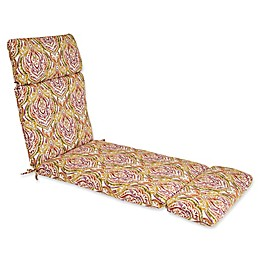 Print Indoor/Outdoor Chaise Lounge Chair Cushion