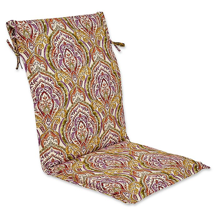 Outdoor Sling Back Chair Cushion In Avaco Sunset Bed