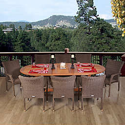Amazonia Rennaisance 9-Piece Oval Extendable Patio Dining Set