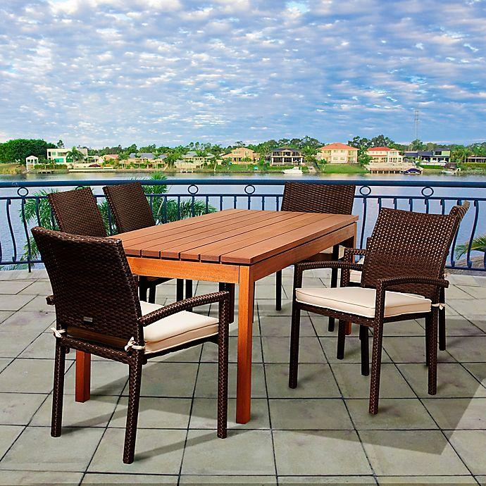 Alternate image 1 for Amazonia Maynard 7-Piece Rectangular Patio Dining Set