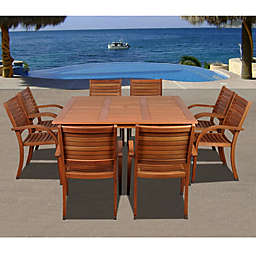 Amazonia Arizona 9-Piece Rectangular Wood Patio Dining Set