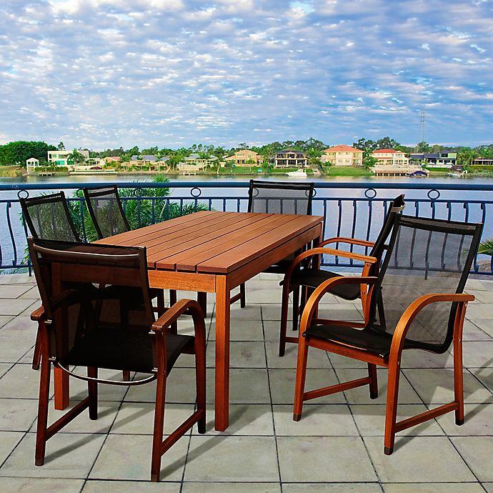 Alternate image 1 for Amazonia Fletcher 7-Piece Outdoor Dining Set
