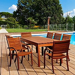 Amazonia Freeman 9-Piece Outdoor Dining Set