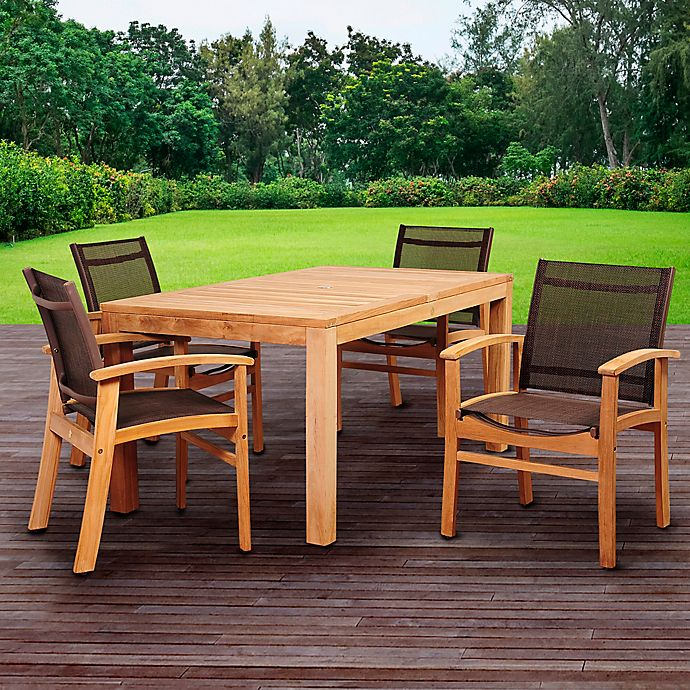 Alternate image 1 for Amazonia Devlin 5-Piece Outdoor Dining Set